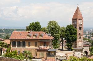 Particolare vista della villa Fiorito dal Castello di Rivoli