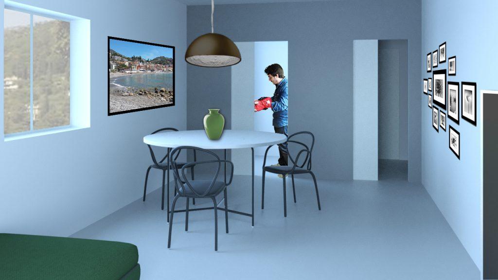 render soggiorno cucina